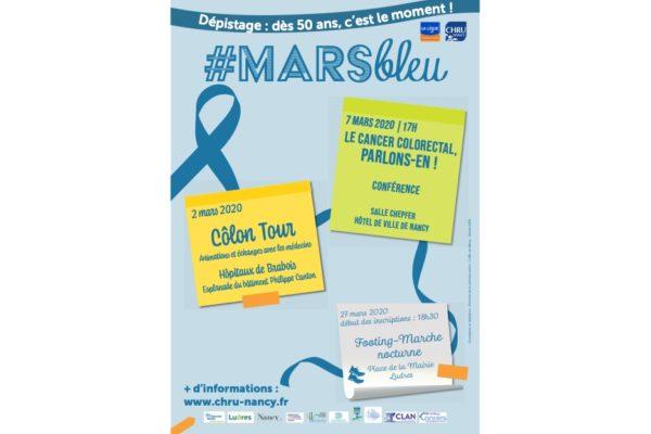 Mars Bleu, le mois de sensibilisation au dépistage du cancer colorectal revient au CHRU de Nancy.
