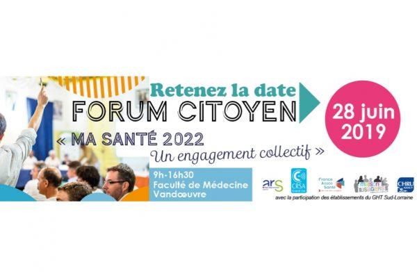 Forum citoyen : ma santé 2022, un engagement collectif