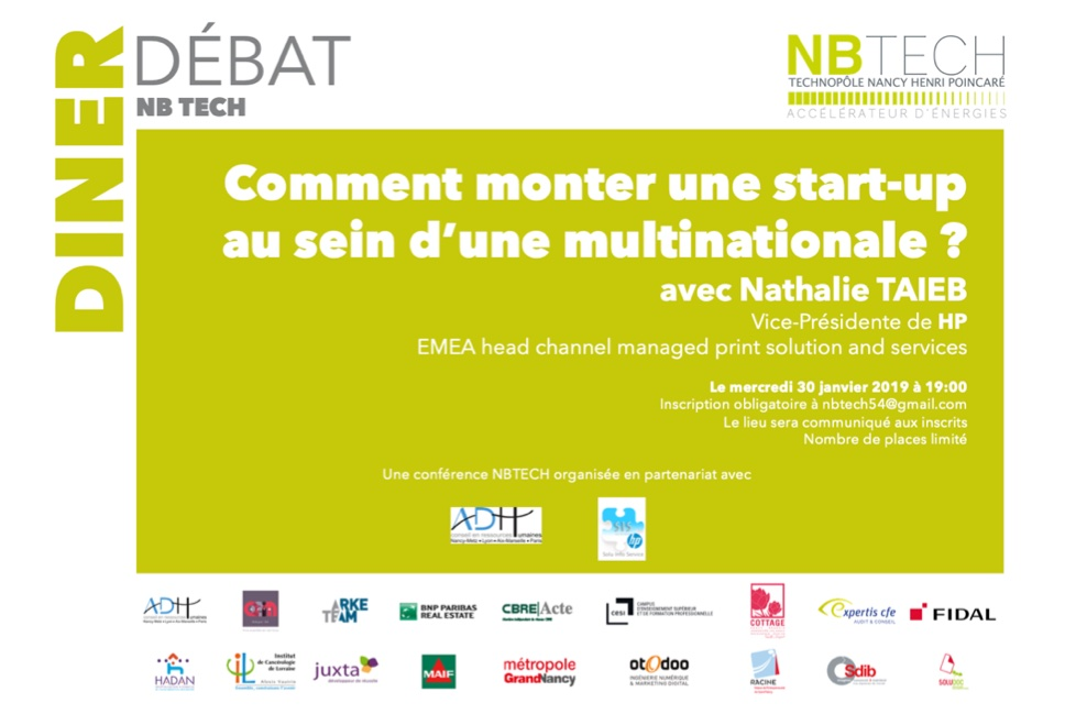 Diner Débat : Le développement d'une Start-up au sein d'un géant international