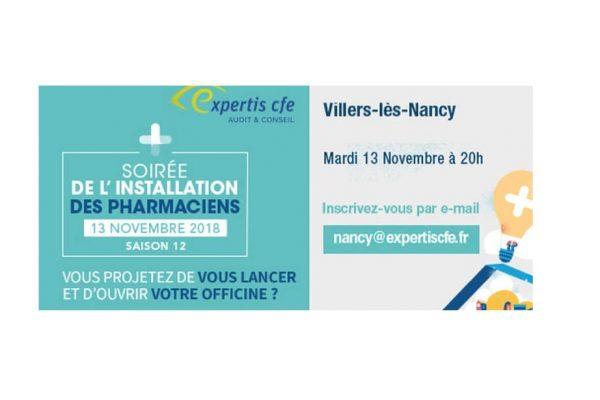 Soirée Expertis CFE de l'installation des pharmaciens