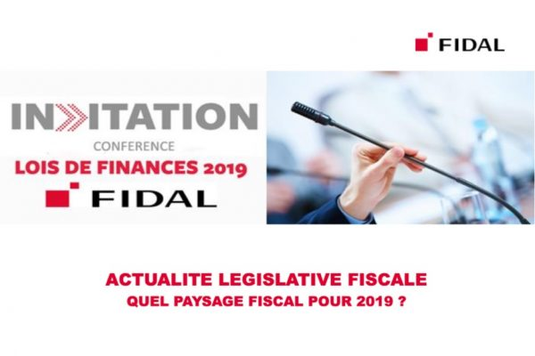 Conférence Quel paysage fiscal pour 2019 ?