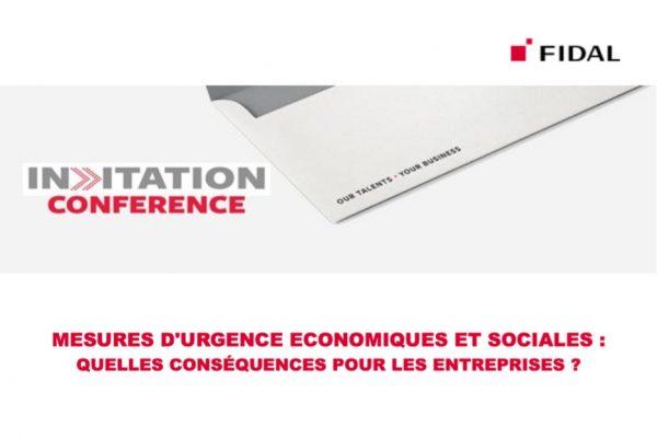 Conférence : Mesures d'urgence économiques et sociales ?