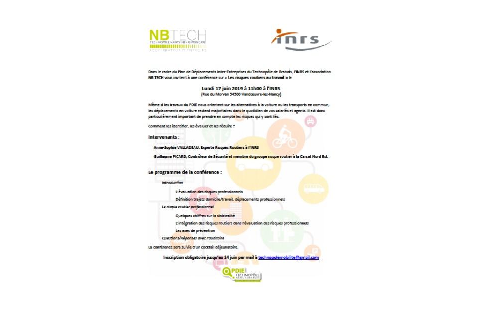 Conférence : les risques routiers au travail