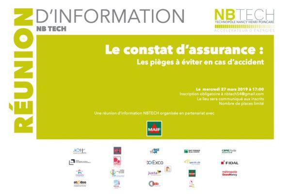27/3 – 17:00 – Réunion : Les pièges du constat d'assurance