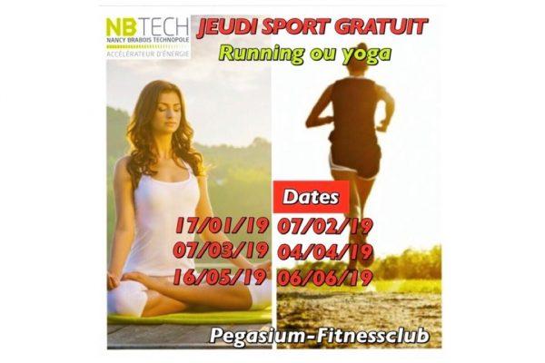 Séance sport gratuite et ouverte à tous le 6 juin.