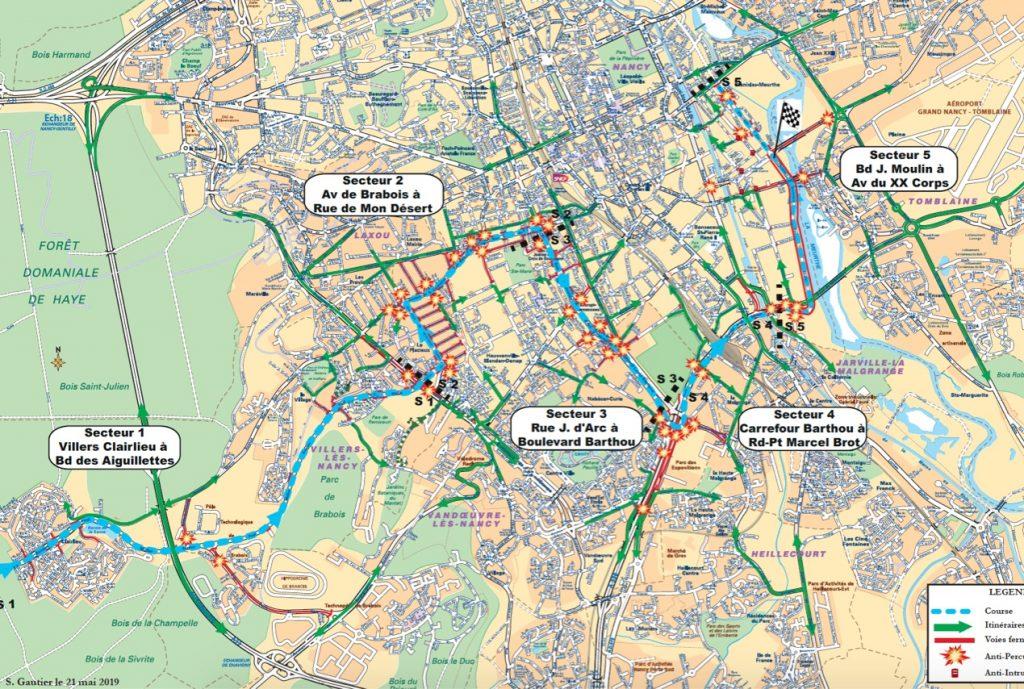 Tour de France : Carte des fermetures de voies