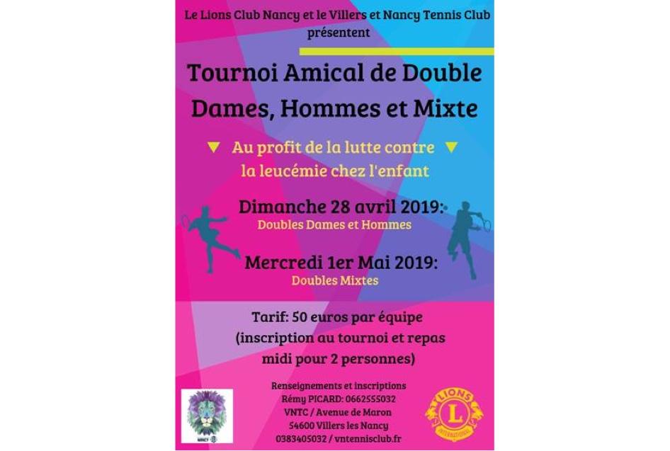 TENNIS : TOURNOI AMICAL DE DOUBLE MIXTE