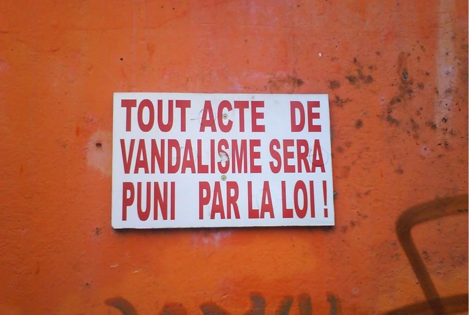 Vandalisme sur le plateau
